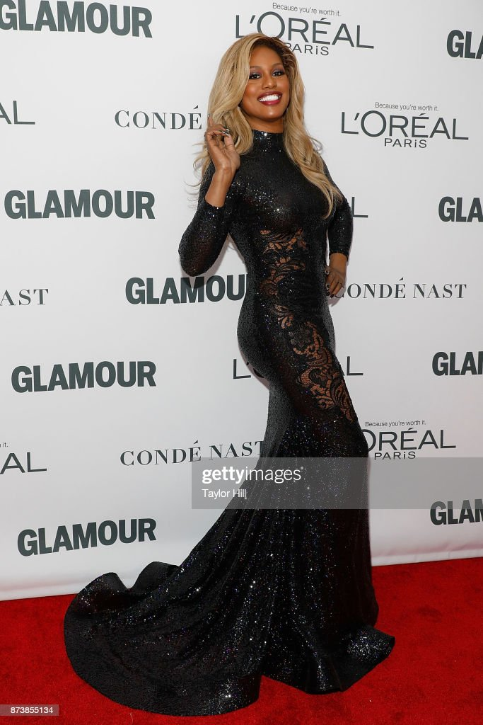 Laverne Cox attends the 2017 Glamour Women Of The Year Awards at Kings Theatre on November 13, 2017 in New York City.