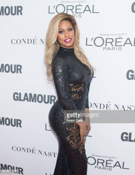 Laverne Cox attends the 2017 Glamour Women of The Year Awards at Kings Theatre on November 13 2017 in New York City