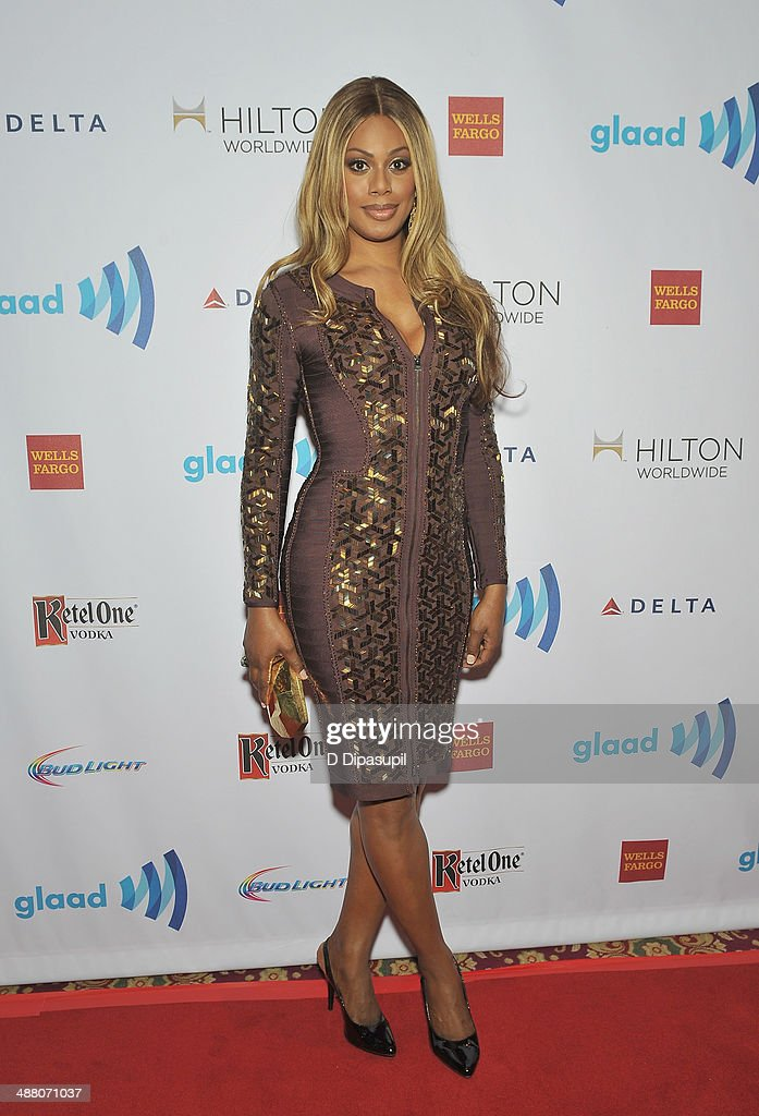 <a gi-track='captionPersonalityLinkClicked' href=/galleries/search?phrase=Laverne+Cox&family=editorial&specificpeople=5848606 ng-click='$event.stopPropagation()'>Laverne Cox</a> attends the 25th Annual GLAAD Media Awards In New York on May 3, 2014 in New York City.
