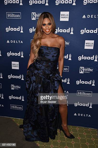 Laverne Cox attends the 27th Annual GLAAD Media Awards in New York on May 14 2016 in New York City