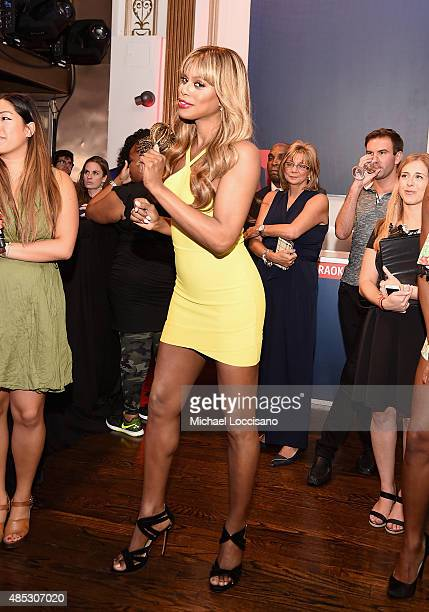 Laverne Cox attends the 2nd Annual Delta OPEN Mic With Serena Williams at Arena on August 26 2015 in New York City