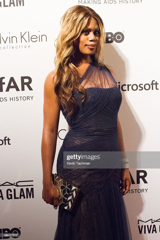 Laverne Cox attends the amfAR Inspiration Gala New York 2014 at The Plaza Hotel on June 10, 2014 in New York City.