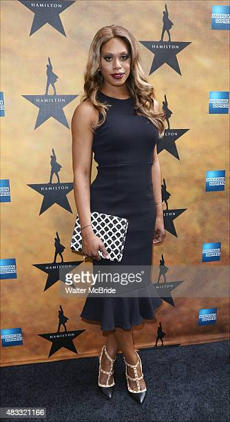 Laverne Cox attends the Broadway Opening Night Performance of 'Hamilton' at the Richard Rodgers Theatre on August 6 2015 in New York City