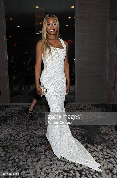 Laverne Cox attends The Daily Front Row's Third Annual Fashion Media Awards at the Park Hyatt New York on September 10 2015 in New York City