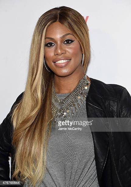 Laverne Cox attends the 'Orangecon' Fan Event at Skylight Clarkson SQ on June 11 2015 in New York City
