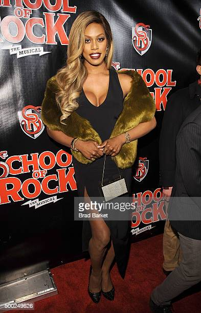 Laverne Cox attends the 'School Of Rock' Broadway opening night at Winter Garden Theatre on December 6 2015 in New York City