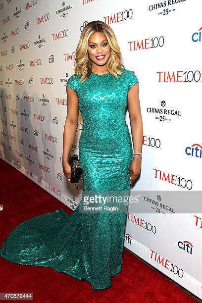 Laverne Cox attends the TIME 100 Gala TIME's 100 Most Influential People In The World at Jazz at Lincoln Center on April 21 2015 in New York City