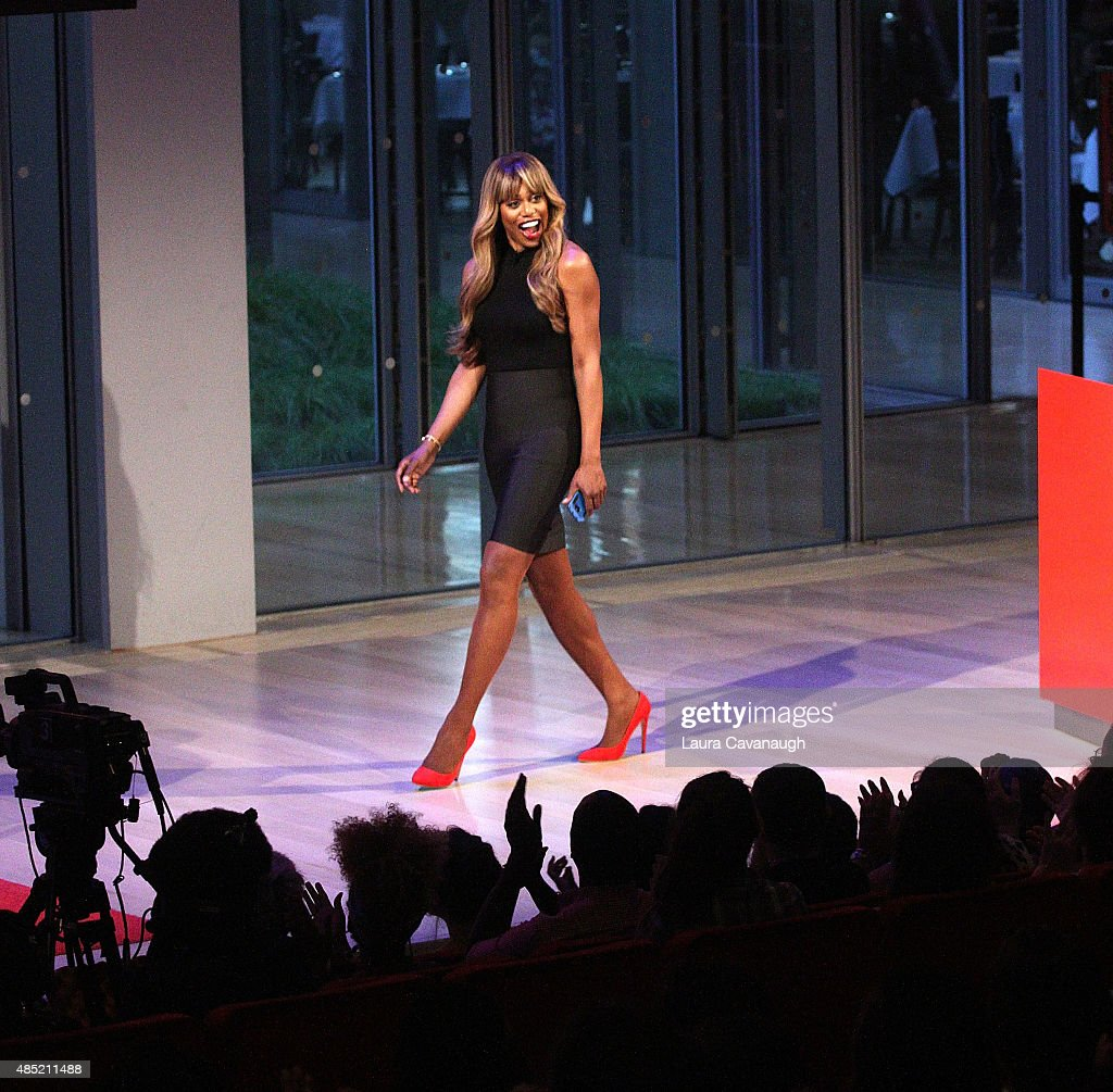 Laverne Cox attends Times Talks presents An Evening with Laverne Cox at Times Center on August 25, 2015 in New York City.