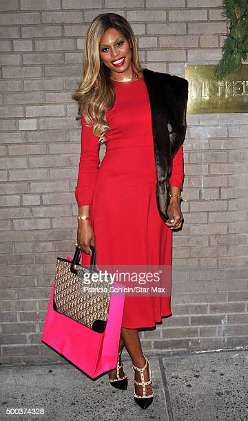 Laverne Cox is seen on December 7 2015 in New York City