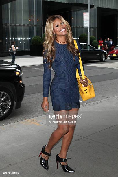 Laverne Cox is seen on July 15 2015 in New York City