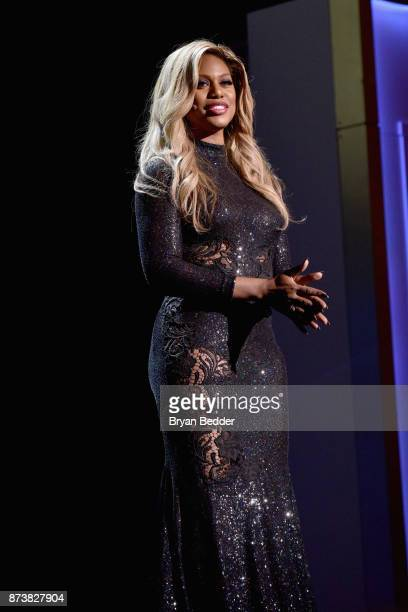 Laverne Cox speaks onstage at Glamour's 2017 Women of The Year Awards at Kings Theatre on November 13 2017 in Brooklyn New York