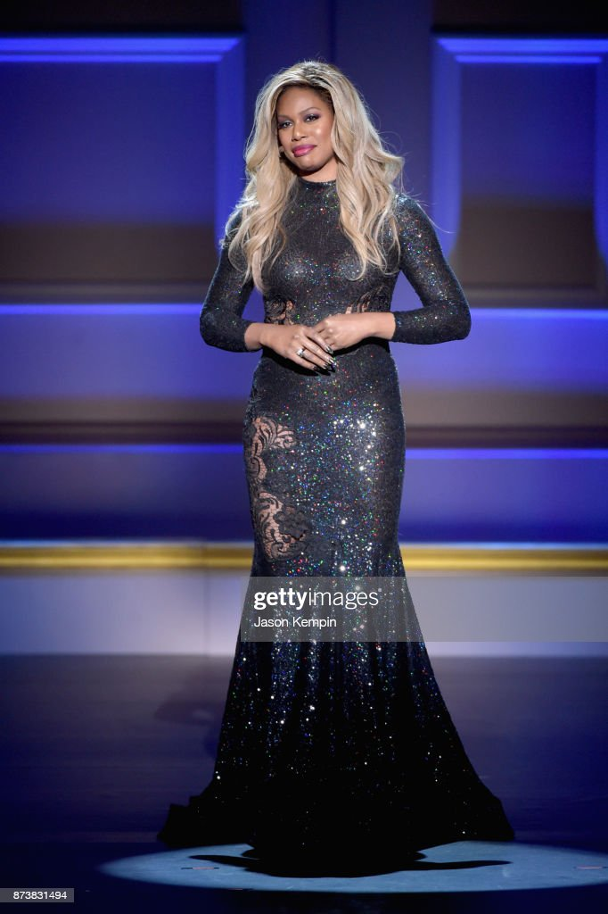 Laverne Cox speaks onstage at Glamour's 2017 Women of The Year Awards at Kings Theatre on November 13, 2017 in Brooklyn, New York.