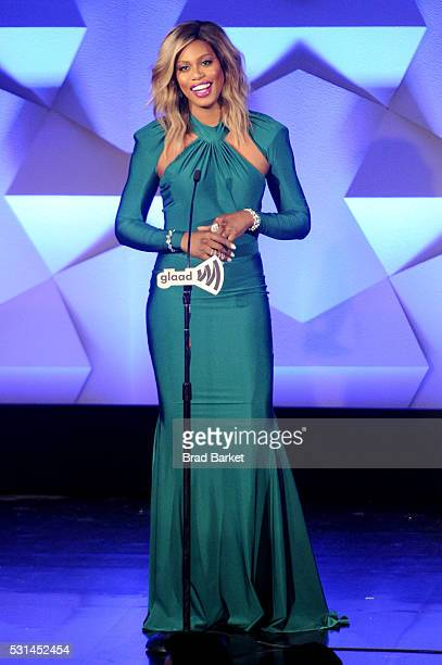 Laverne Cox speaks onstage at the 27th Annual GLAAD Media Awards hosted by Ketel One Vodka at the WaldorfAstoria on May 14 2016 in New York City
