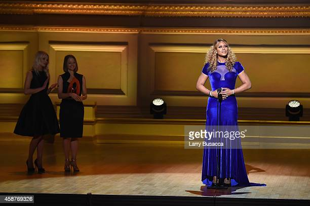 Laverne Cox speaks onstage at the Glamour 2014 Women Of The Year Awards at Carnegie Hall on November 10 2014 in New York City