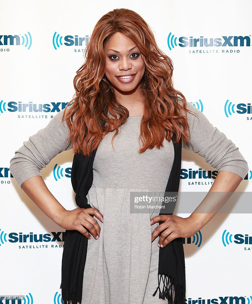 Laverne Cox visits the SiriusXM Studios on December 18, 2012 in New York City.