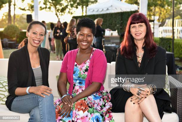Lavetta Cannon Carmelita Nouri Tracy Robertson attend the Women in Entertainment Reception during the 2017 Los Angeles Film Festival on June 20 2017...