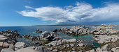 Panoramic view of Lavezzis islands landscape in Corsica, France