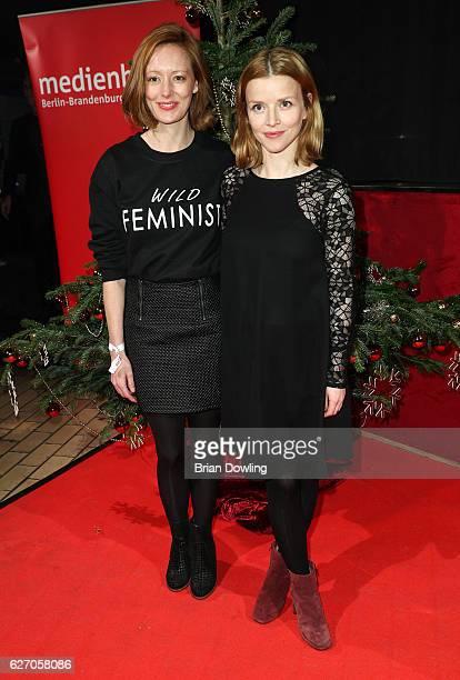 Lavina Wilson and Karoline Schuch attend the Medienboard PreChristmas Party at Schwuz on December 1 2016 in Berlin Germany