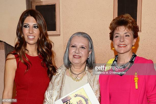 Lavinia Biagiotti Laura Biagiotti and Pamela Villoresi attend the Laura Biagiotti show as part of Milan Fashion Week Womenswear Autumn/Winter 2014 on...