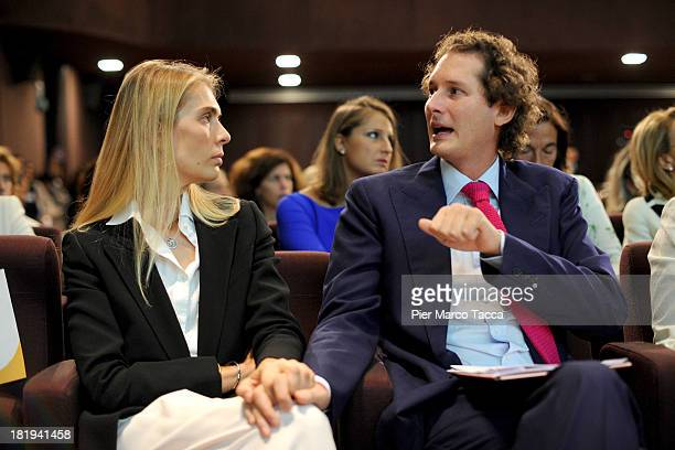 Lavinia Borromeo and John Elkann President of FIAT group attend the 'Women Science and Technology' convention at Museo della Scienza e della Tecnica...