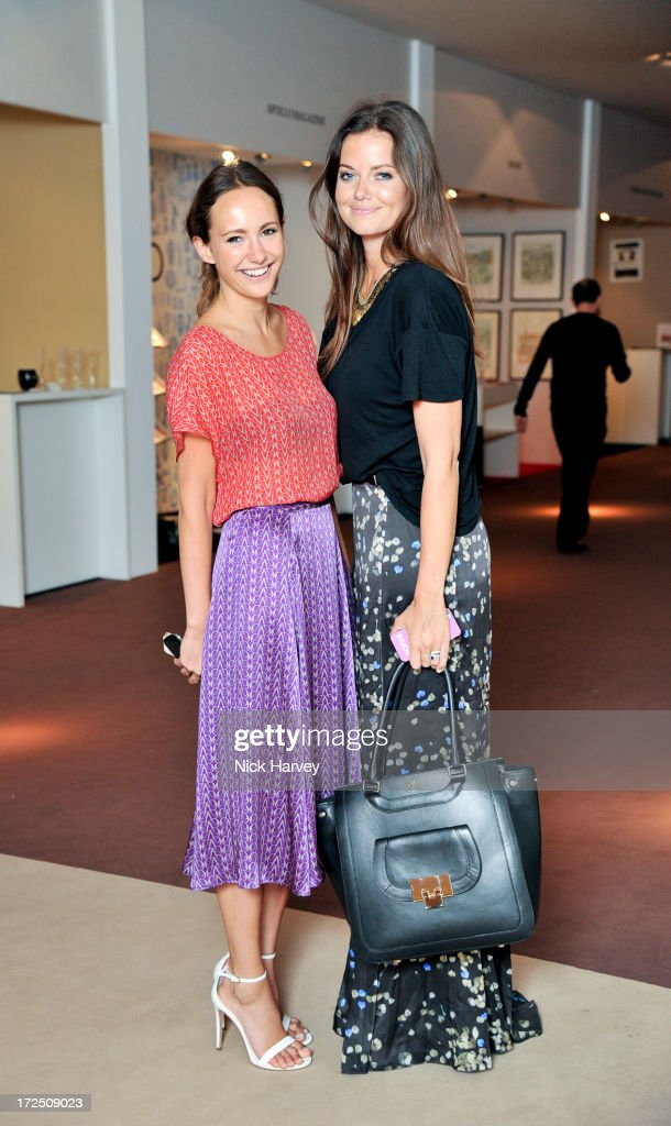 Lavinia Brennan and Natasha Rufus Isaacs attend the Masterpiece Midsummer Party in aid of Marie Curie at The Royal Hospital Chelsea on July 2, 2013 in London, England.