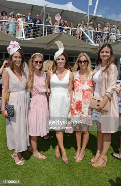 Lavinia Brennan Katie Readman Natalie Pinkham Martha Ward and Lady Natasha Rufus Isaacs attend Glorious Goodwood Ladies Day at Goodwood on July 31...