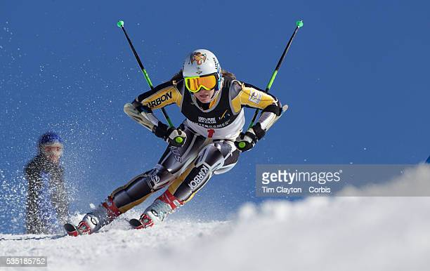 Lavinia Chrystal Australia in action during the Women's Giant Slalom competition at Coronet Peak New Zealand during the Winter Games Queenstown New...