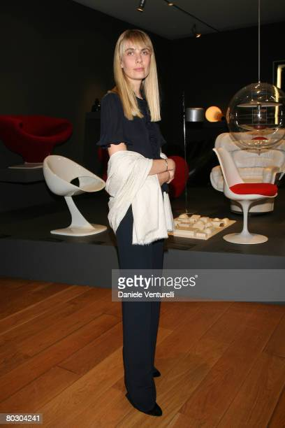 Lavinia Elkann attends the Adventure with Objects/Preview Gala Dinner at Pinacoteca Giovanni e Marella Agnlli on March 18 2008 in Turin Italy