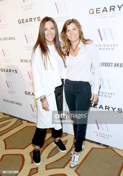 Lavinia Errico and Terry Bielski attend the Visionary Women's Salon Mind Body and Soul at Montage Beverly Hills on March 30 2017 in Beverly Hills...
