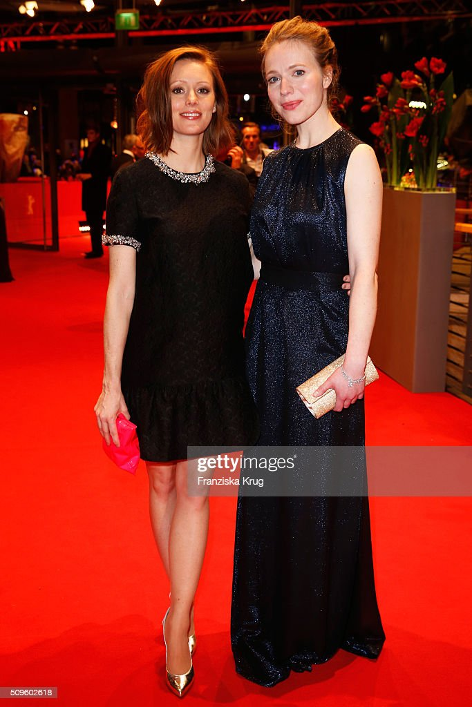Lavinia Wilson and Anna Brueggemann attend the opening party of the 66th Berlinale International Film Festival Berlin at Berlinale Palace on February 11, 2016 in Berlin, Germany.