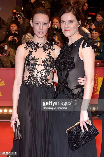 Lavinia Wilson and Fritzi Haberlandt attend the 'Nobody Wants the Night' premiere and Opening Ceremony of the 65th Berlinale International Film...