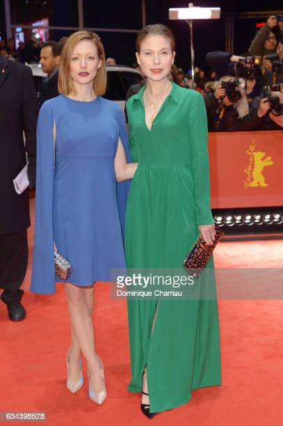 Lavinia Wilson and Nora von Waldstaetten attend the 'Django' premiere during the 67th Berlinale International Film Festival Berlin at Berlinale...