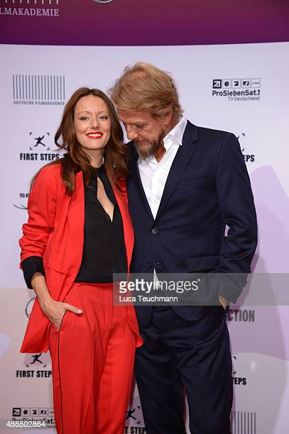 Lavinia Wilson and Soenke Wortmann attend the First Steps Award 2014 at Stage Theater on September 15 2014 in Berlin Germany