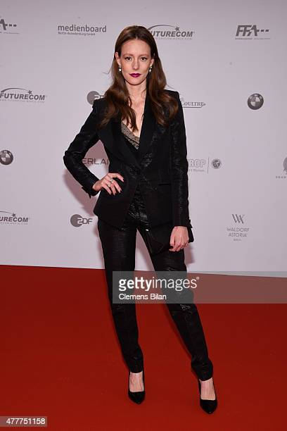 Lavinia Wilson arrives for the German Film Award 2015 Lola at Messe Berlin on June 19 2015 in Berlin Germany