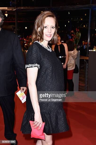 Lavinia Wilson attends the 'Hail Caesar' premiere during the 66th Berlinale International Film Festival Berlin at Berlinale Palace on February 11...