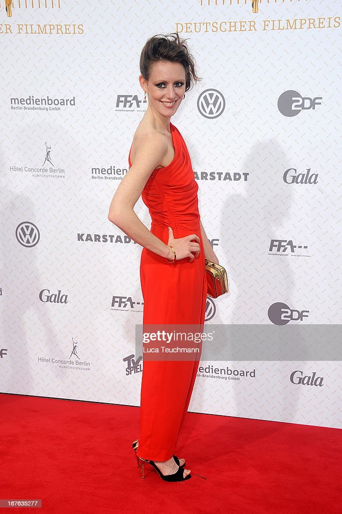 Lavinia Wilson attends the Lola German Film Award 2013 at Friedrichstadtpalast on April 26, 2013 in Berlin, Germany.