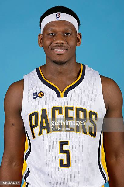 Lavoy Allen of the Indiana Pacers poses for a head shot during media day at Bankers Life Fieldhouse on September 26 2016 in Indianapolis Indiana NOTE...