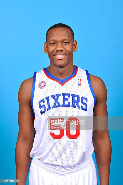 Lavoy Allen of the Philadelphia 76ers poses for a photo during NBA Media Day on October 1 2012 at the Philadelphia College of Osteopathic Medicine in...
