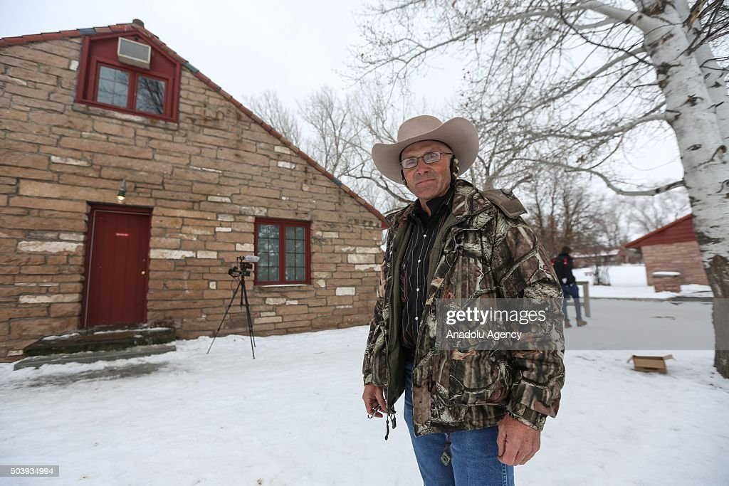 Lavoy Finicum is seen at the occupied Malheur National Wildlife Refuge on the sixth day of the occupation of the federal building in Burns Oregon on...