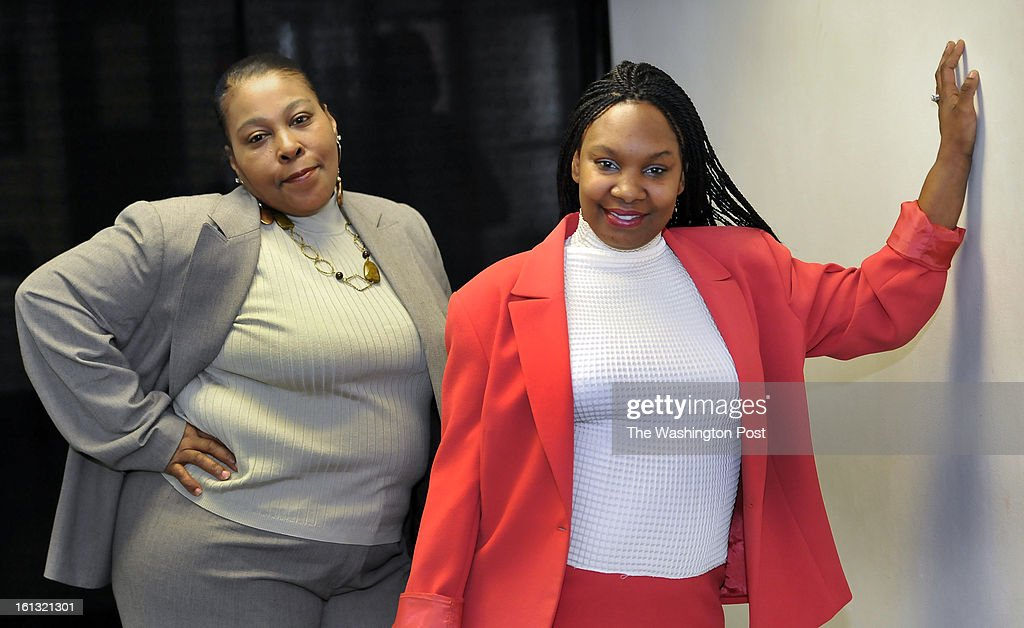 Lavrene Newman(L) and Aishia Smith(L) modeled the outfits that they would wear in the fashion makover portion of the annual Women's Reentry Symposium 2013 held at the Temple of Praise on Saturday, Feburary 09, 2013.