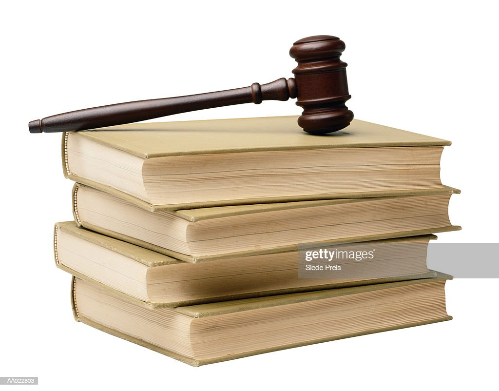 Law Books and a Gavel : Stock Photo