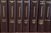 Statute books containing the United States Constitution