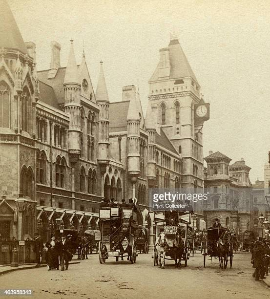 Law Courts Strand London late 19th century The Royal Courts of Justice were built between 1873 and 1882 The Victorian Gothic style building was...