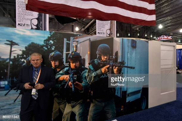 Law enforcement expo part of the annual International Association of Chiefs of Police conference at the Pennsylvania Convention Center in...
