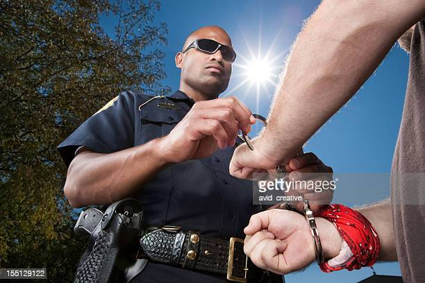 Law Enforcement-Police Handcuffing Criminal