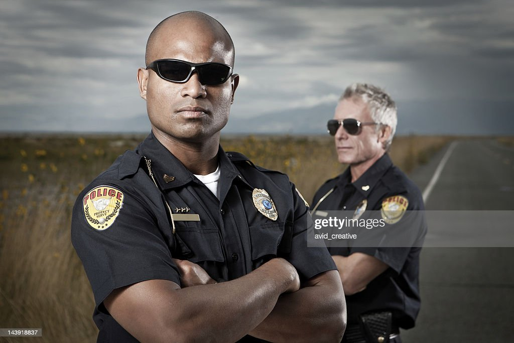 Law Enforcement-Tough Police Team : Stock Photo