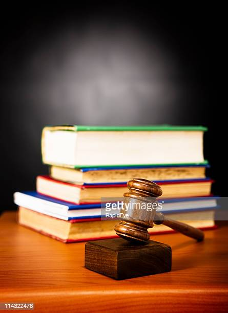Law: Gavel and law books