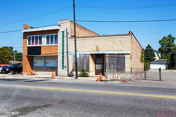 Law offices and boarded up shop, Mount Greenwood, Chicago