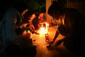 Law students hold a candle light vigil protesting emergency rule on November 8 2007 in Islamabad Pakistan The Pakistani constitution has been...