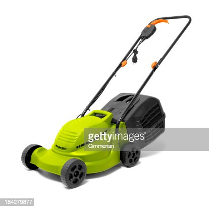Lawn Mower on white